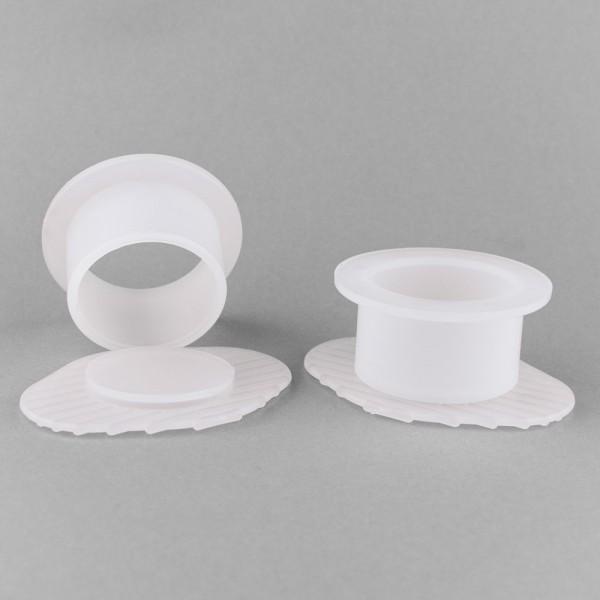LDPE Einbettformen, transparent, rund, 3 Stück