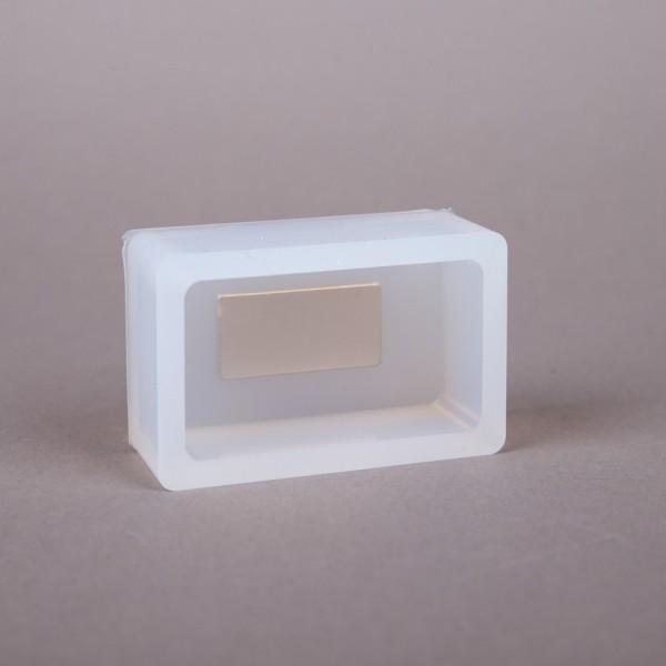 Silikonkautschuk Einbettformen mit Magnetkern, transparent, eckig