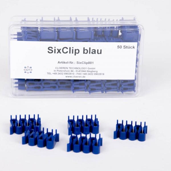 SixClip - Einbetthilfen aus Kunststoff, Fixierung bis 6 Proben, 50 St.
