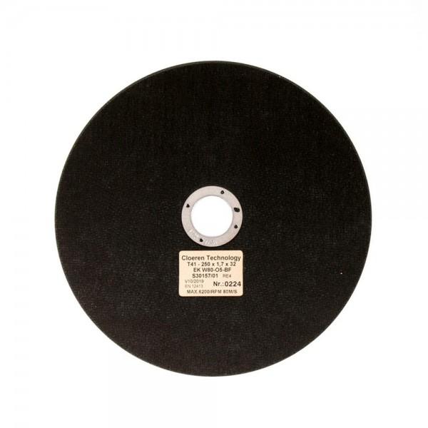 Korund Trennscheibe, gewebeverstärkt, gehärtete Stähle < 450 HV