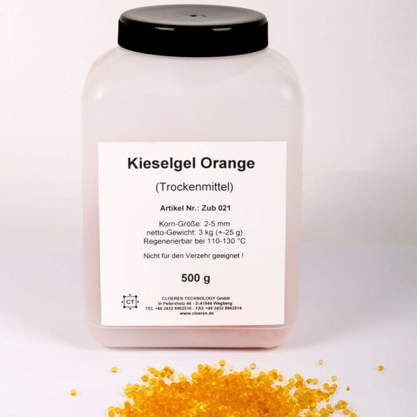 Kieselgel (Trockungsperlen), orange, 500 g