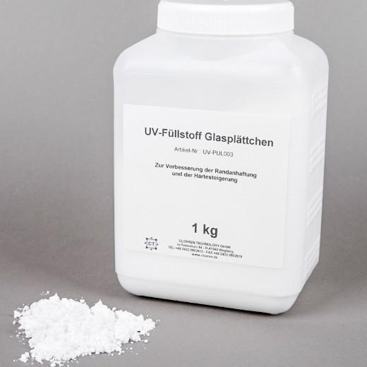 UV-Füllstoff Glasplättchen, 1kg