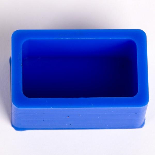 Silikonkautschuk Einbettformen, blau, eckig